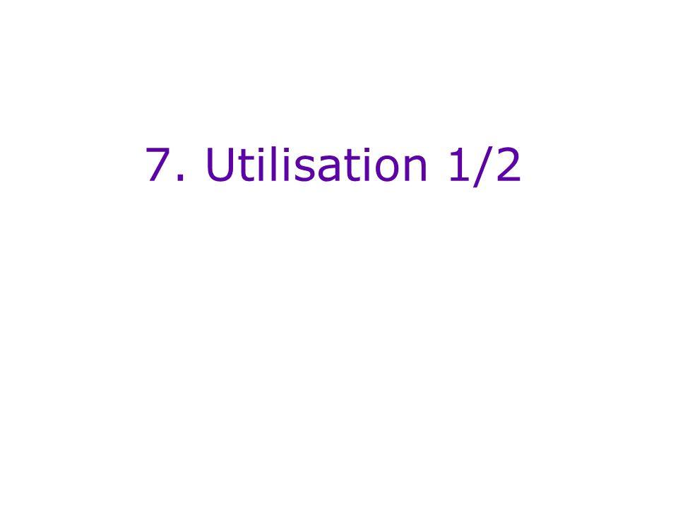 7. Utilisation 1/2