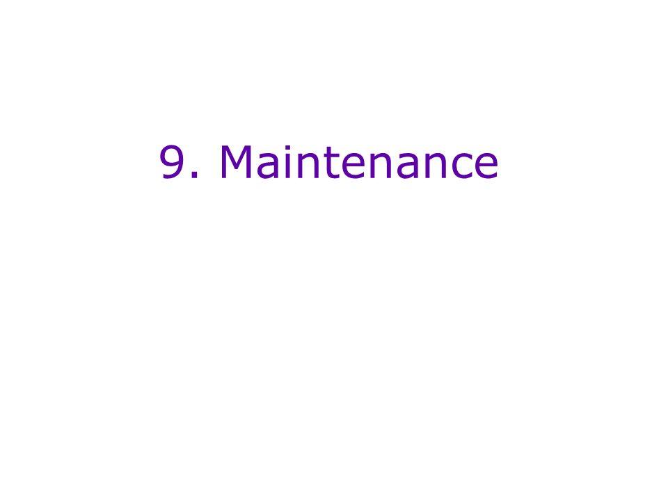 9. Maintenance