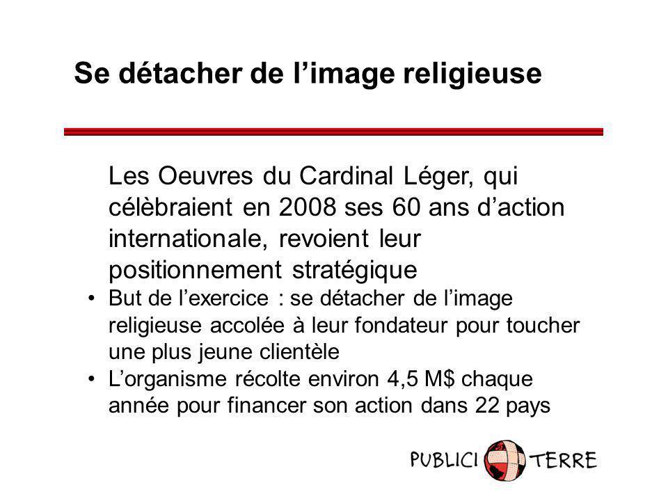 Se détacher de limage religieuse Les Oeuvres du Cardinal Léger, qui célèbraient en 2008 ses 60 ans daction internationale, revoient leur positionnemen