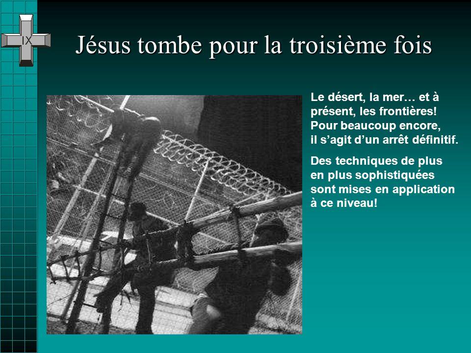 Jésus tombe pour la troisième fois