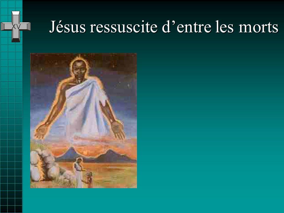 Jésus est mis au tombeau Il na même pas été enterré dans une tombe à lui… on la lui a prêtée… Et pourtant, quelques femmes lont pleuré, elles ont touj