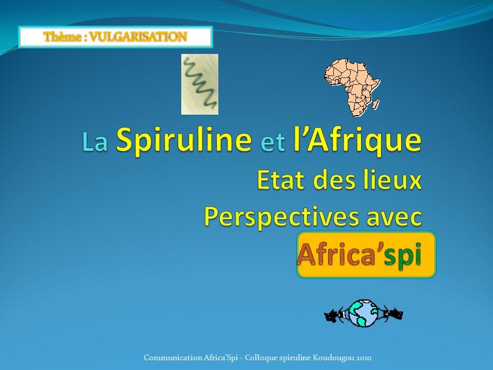 Communication Africa Spi - Colloque spiruline Koudougou 2010