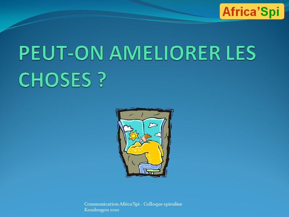 Conclusion Si certains aspects liés au contexte et à lenvironnement ne peuvent être modifiés à court terme : ventes en Afrique difficiles liées à la p
