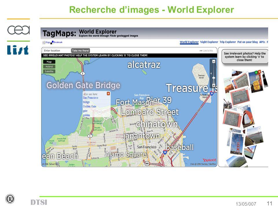 11 13/05/007 DTSI Recherche dimages - World Explorer