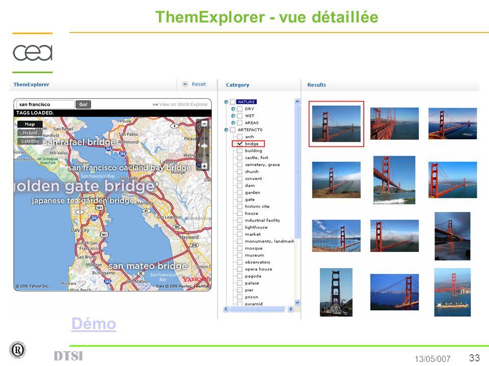 33 13/05/007 DTSI ThemExplorer - vue détaillée Démo