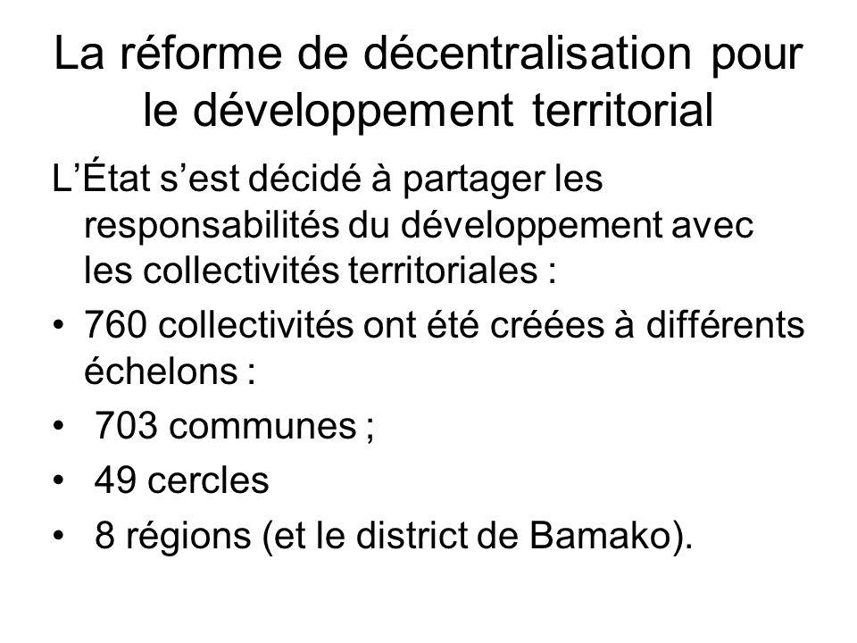 La réforme de décentralisation pour le développement territorial LÉtat sest décidé à partager les responsabilités du développement avec les collectivi
