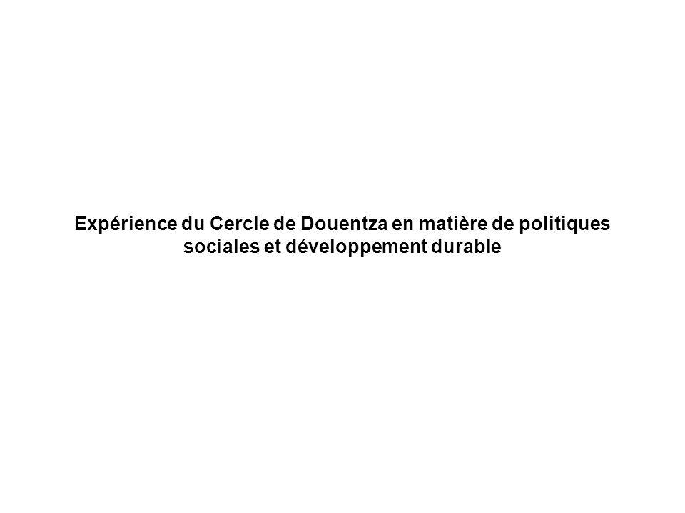 Expérience du Cercle de Douentza en matière de politiques sociales et développement durable