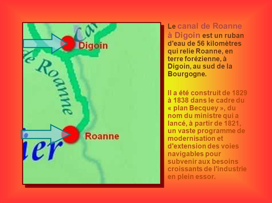 Le canal de Roanne à Digoin est un ruban d'eau de 56 kilomètres qui relie Roanne, en terre forézienne, à Digoin, au sud de la Bourgogne. Il a été cons