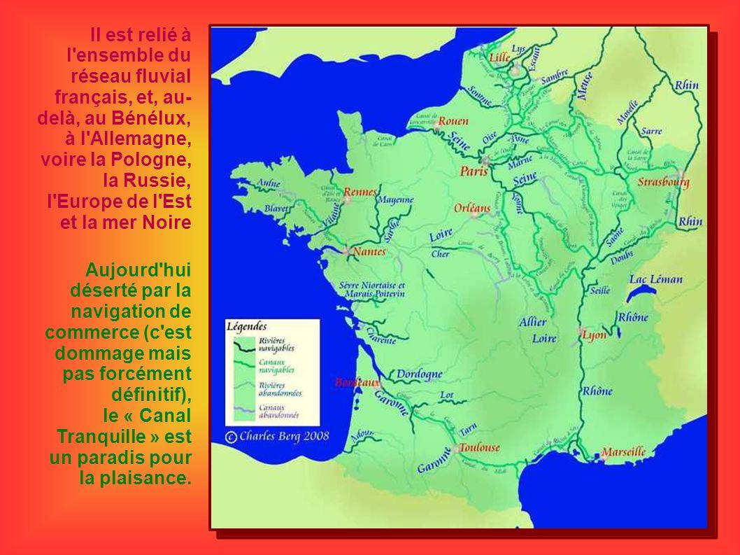 Il est relié à l'ensemble du réseau fluvial français, et, au- delà, au Bénélux, à l'Allemagne, voire la Pologne, la Russie, l'Europe de l'Est et la me
