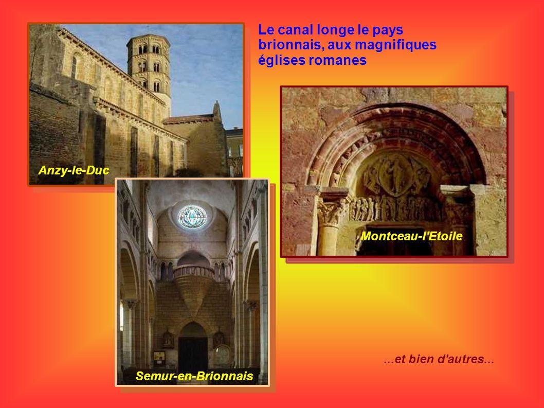 Le canal longe le pays brionnais, aux magnifiques églises romanes Anzy-le-Duc Montceau-l'Etoile Semur-en-Brionnais...et bien d'autres...