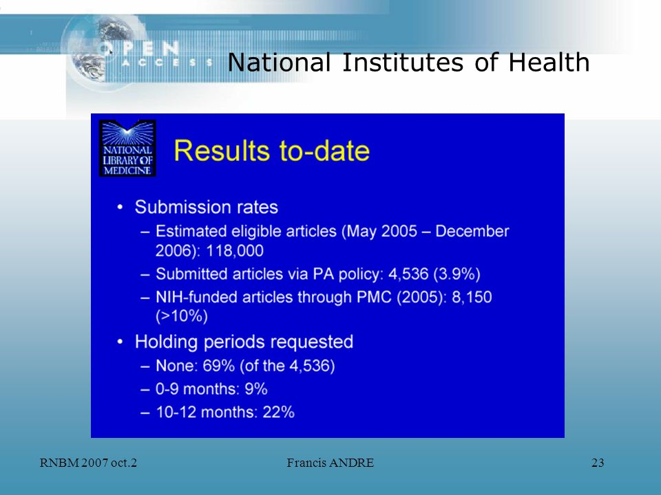 RNBM 2007 oct.2Francis ANDRE23 National Institutes of Health