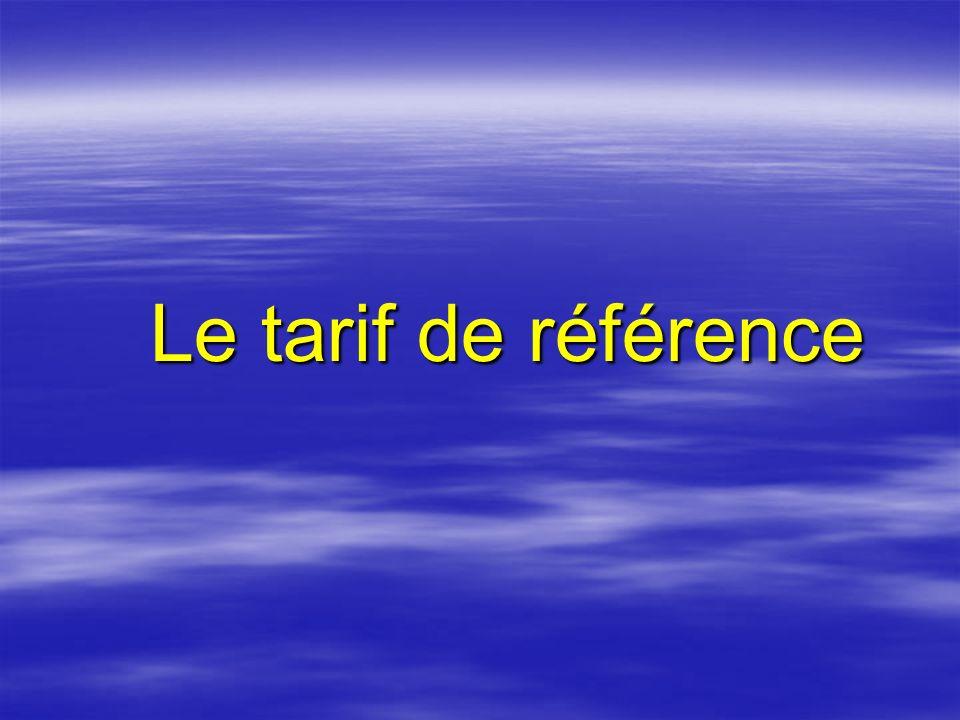 TARIF DE REFERENCE Pourquoi?Comment?Impacts?