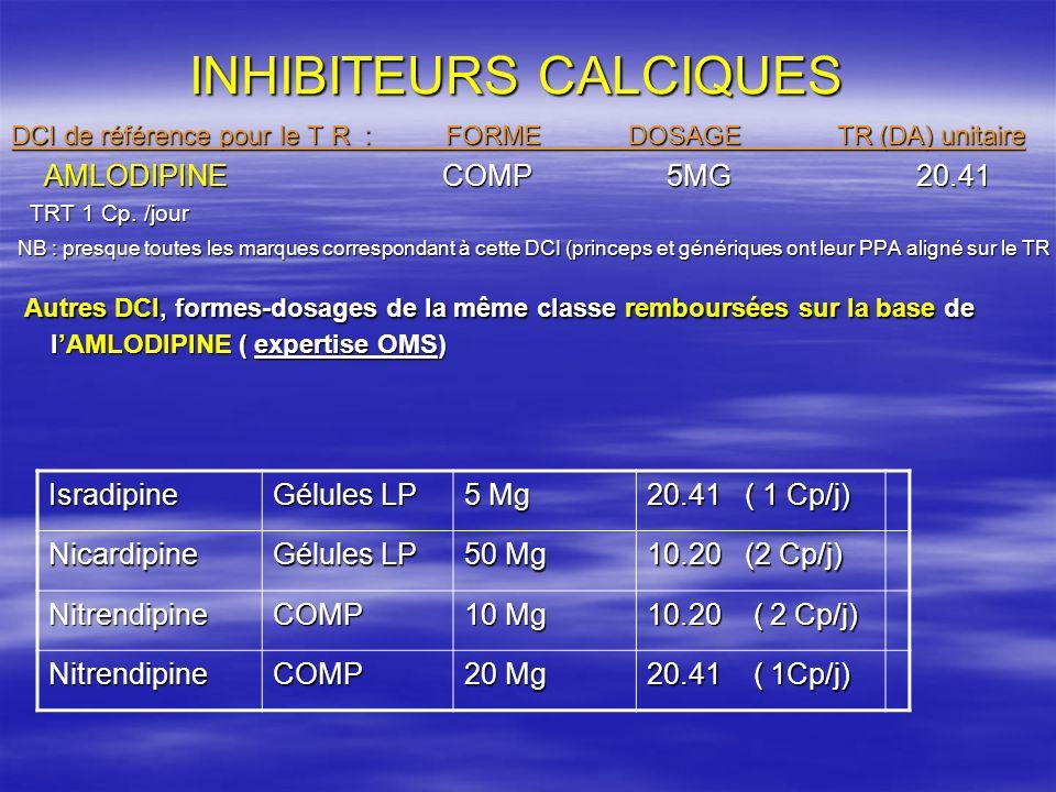 STATINES DCI de référence pour le TR: Forme: Dosage: TR (da) unitaire SIMVASTATINE Cp 20Mg 45.27 Autres DCI,formes-dosages de la même classe remboursées sur la base de la SIMVASTATINE (Expertise OMS) DCI DCIFORMEDOSAGE TR (da) unitaire PRAVASTATINEComp 20 mg 45.27 FLUVASTATINEGélules 45.27 ATORVASTATINEComp 45.27