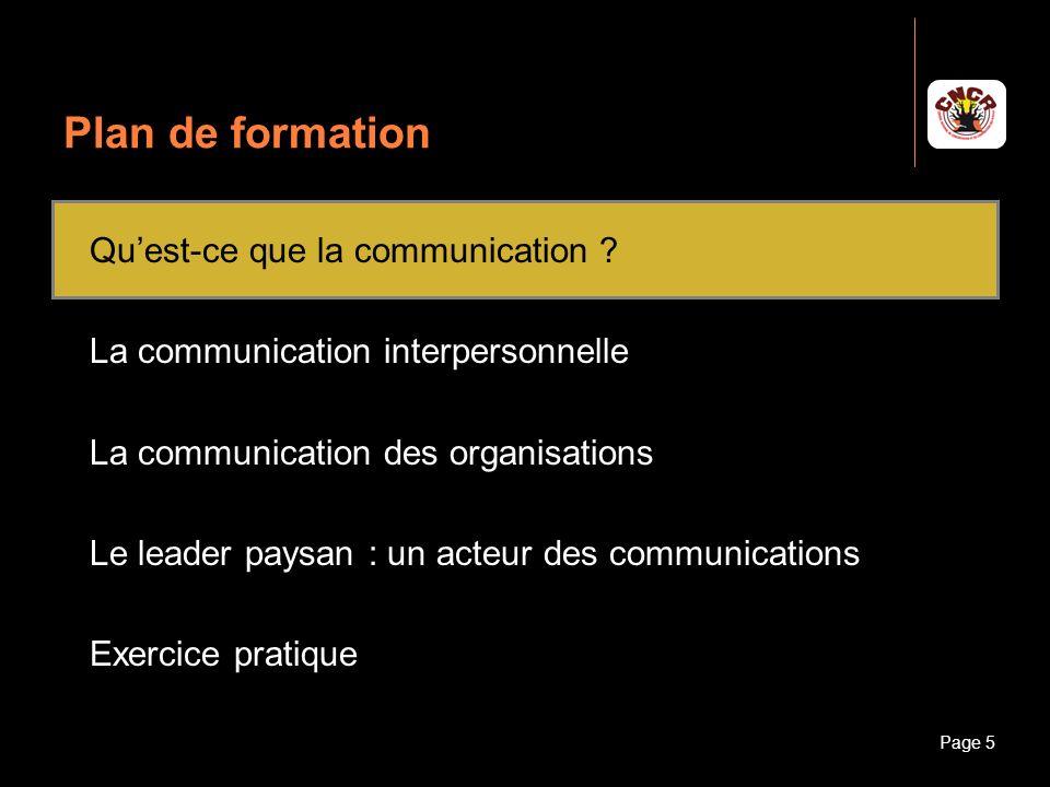 Janvier 2010Introduction à la communicationPage 6 Quest-ce que la communication .