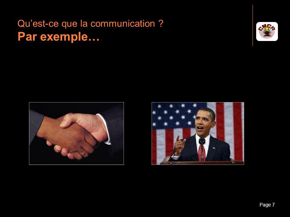 Janvier 2010Introduction à la communicationPage 8 Quest-ce que la communication ? Par exemple…