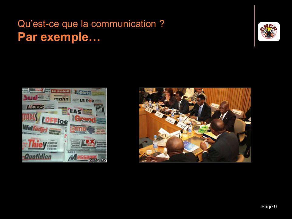 Janvier 2010Introduction à la communicationPage 10 Quest-ce que la communication .