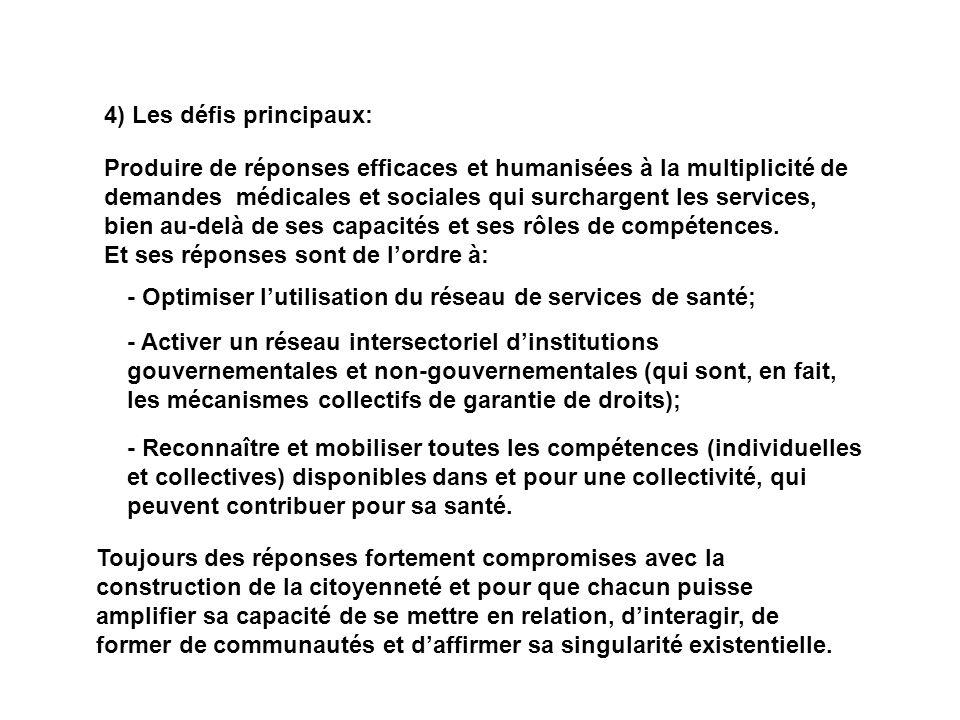 4) Les défis principaux: Produire de réponses efficaces et humanisées à la multiplicité de demandes médicales et sociales qui surchargent les services
