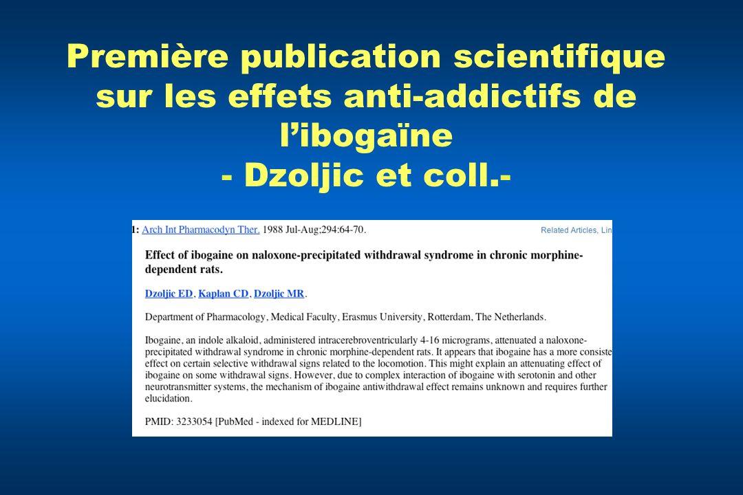 Première publication scientifique sur les effets anti-addictifs de libogaïne - Dzoljic et coll.-