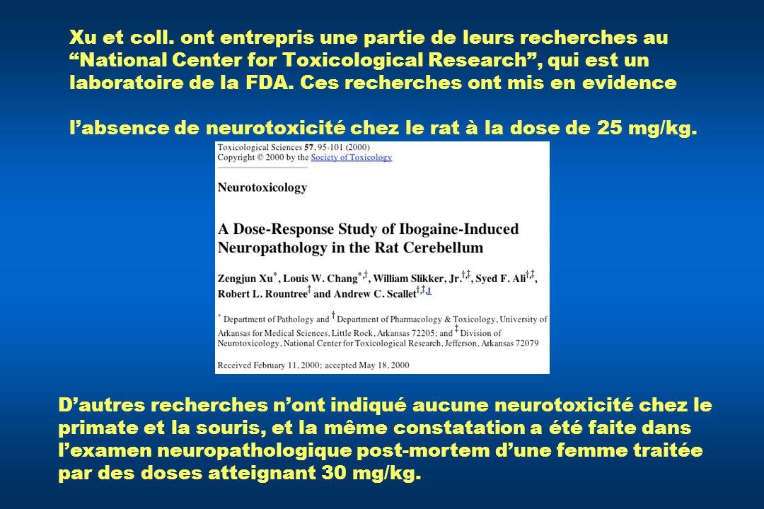 Xu et coll. ont entrepris une partie de leurs recherches au National Center for Toxicological Research, qui est un laboratoire de la FDA. Ces recherch