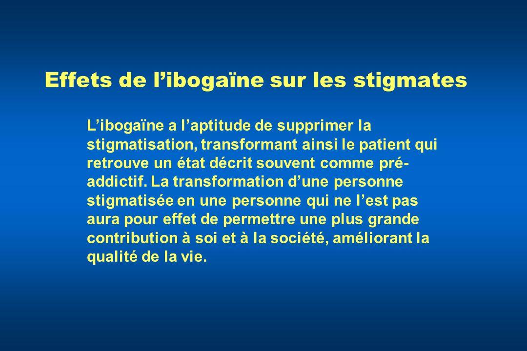 Effets de libogaïne sur les stigmates Libogaïne a laptitude de supprimer la stigmatisation, transformant ainsi le patient qui retrouve un état décrit