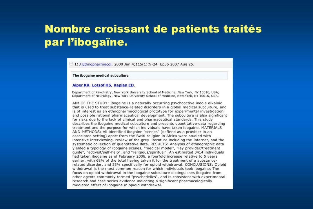Nombre croissant de patients traités par libogaïne.