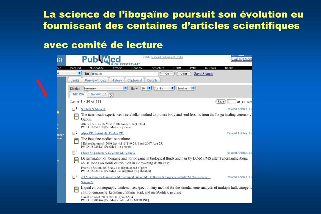 La science de libogaïne poursuit son évolution eu fournissant des centaines darticles scientifiques avec comité de lecture