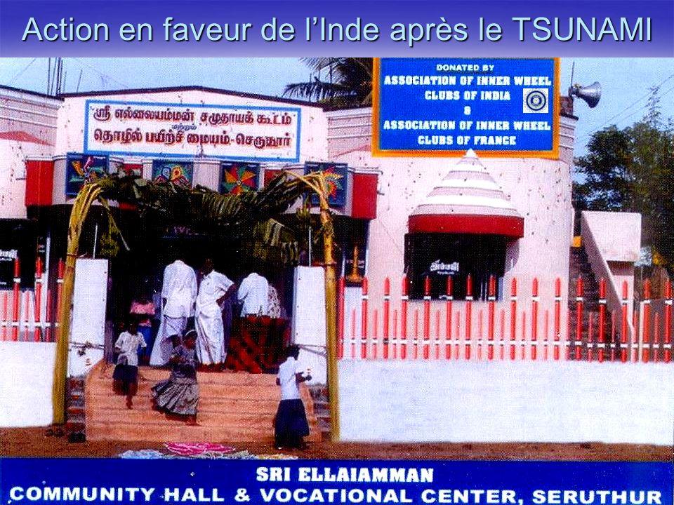 Liliane KÉRISIT mai 2008 Action en faveur de lInde après le TSUNAMI