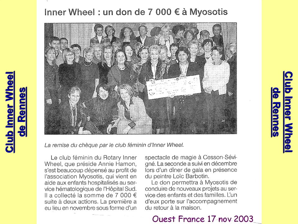 Liliane KÉRISIT mai 2008 Club Inner Wheel de Rennes Club Inner Wheel de Rennes