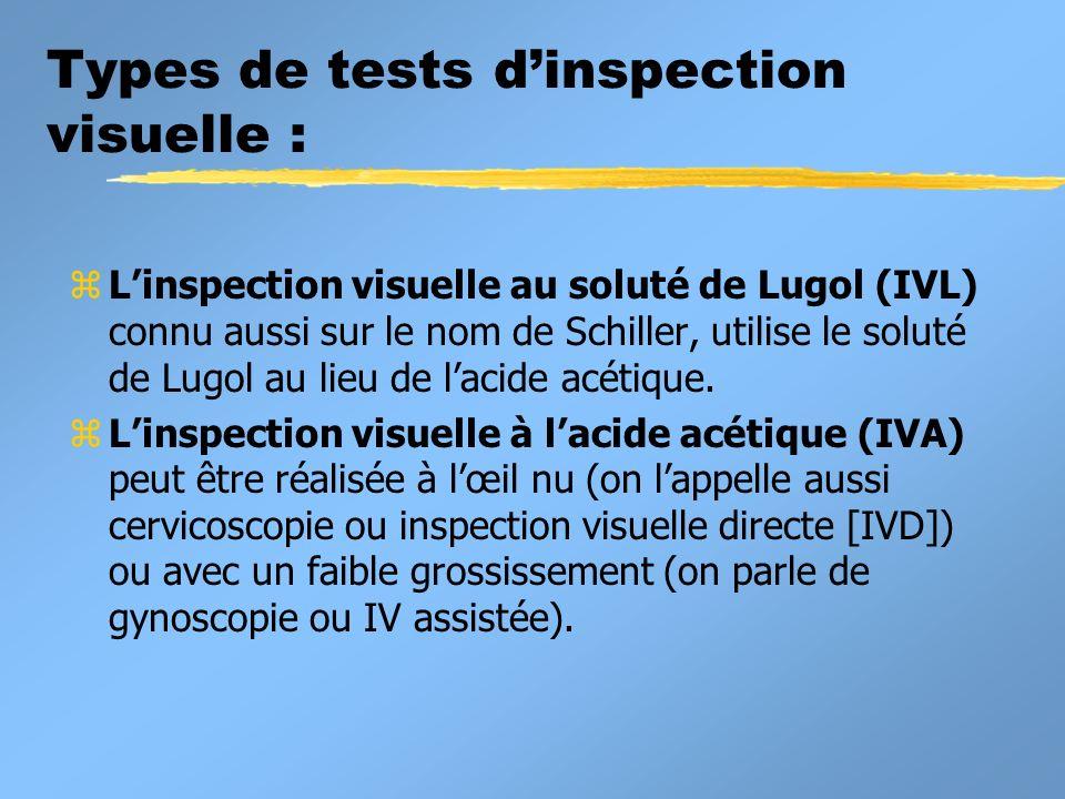 Performances du test IVL: z Sensibilité = 87,2% z Spécificité = 84,7% zCes r é sultats sont issus d une é tude transversale incluant 4 444 femmes.