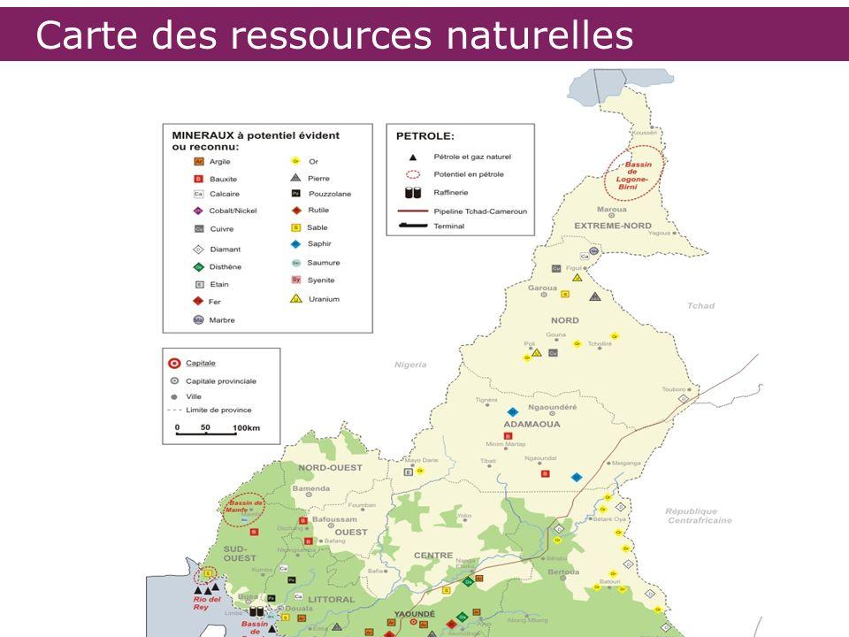 Carte des ressources naturelles