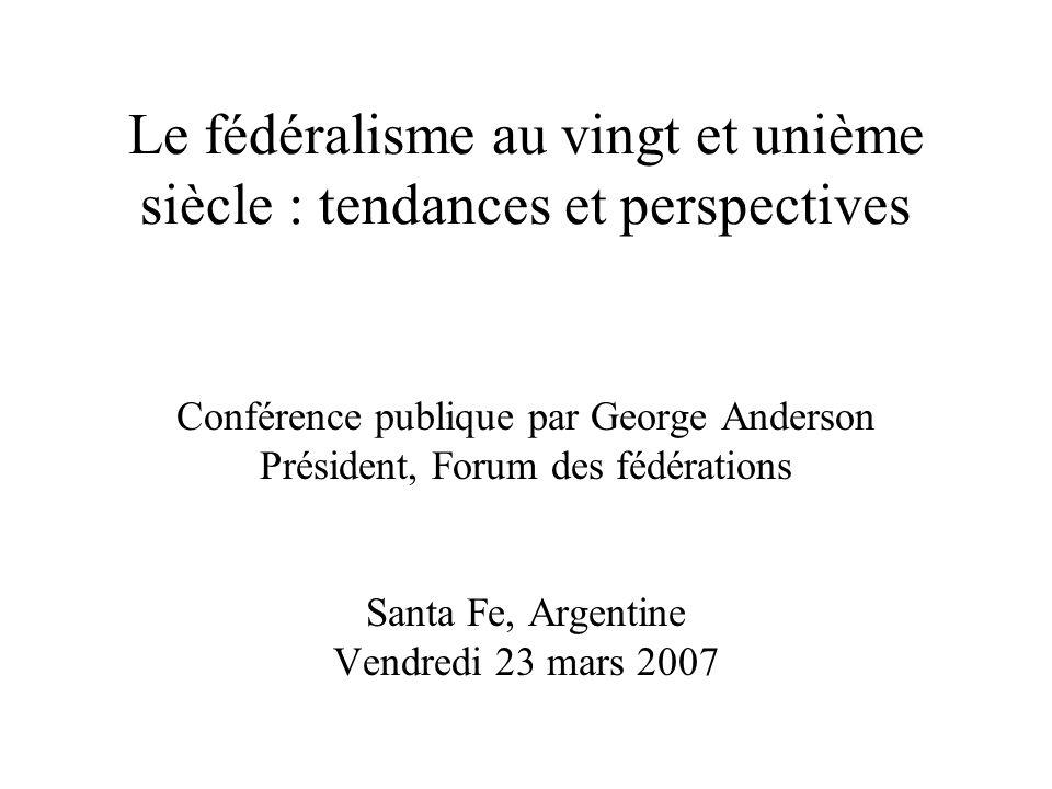Quest-ce que le fédéralisme .