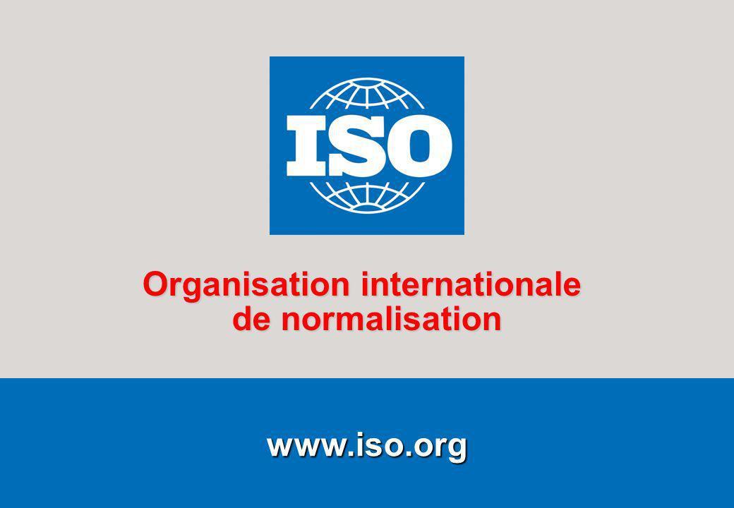 1Le cadre général Février 2009 www.iso.org Organisation internationale de normalisation
