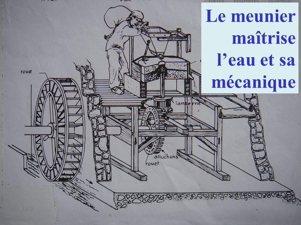 Le meunier maîtrise leau et sa mécanique