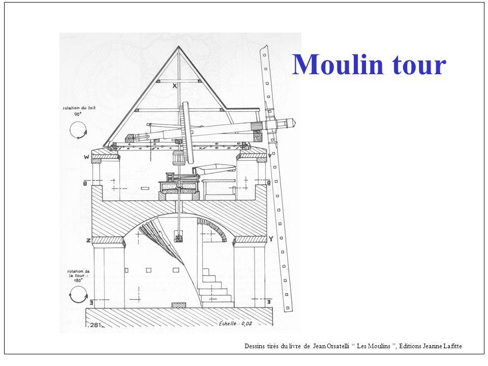 Dessins tirés du livre de Jean Orsatelli Les Moulins, Editions Jeanne Lafitte Moulin tour