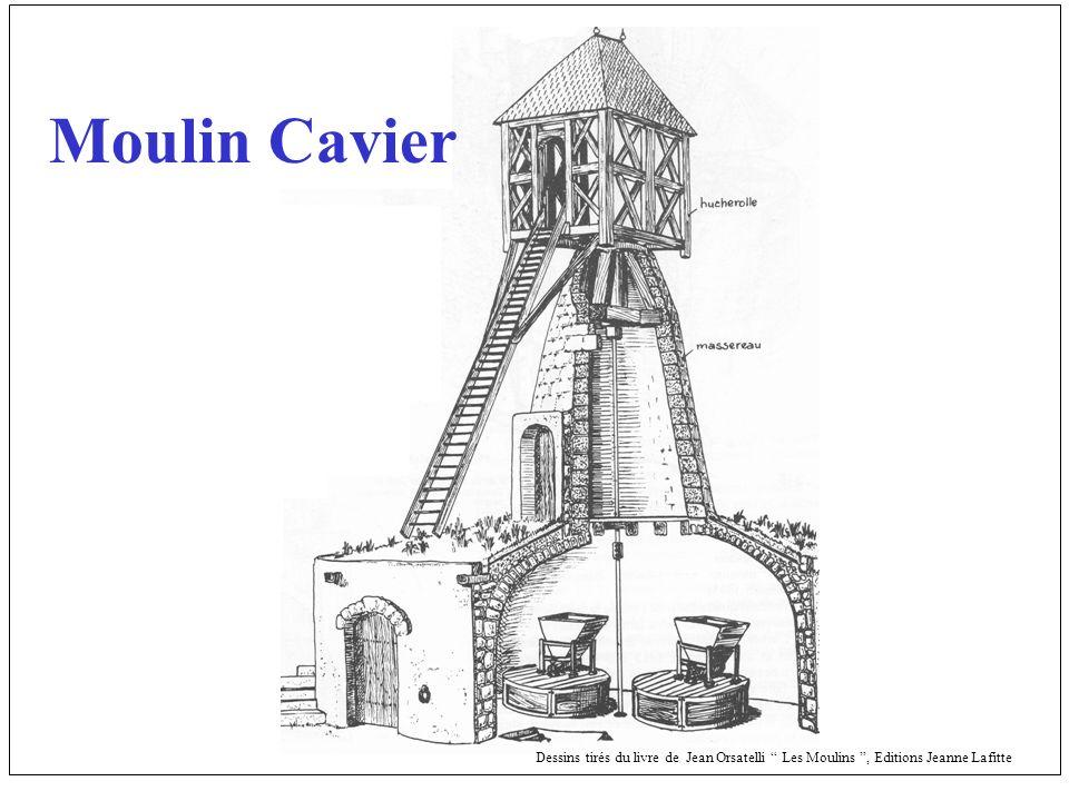 Dessins tirés du livre de Jean Orsatelli Les Moulins, Editions Jeanne Lafitte Moulin Cavier