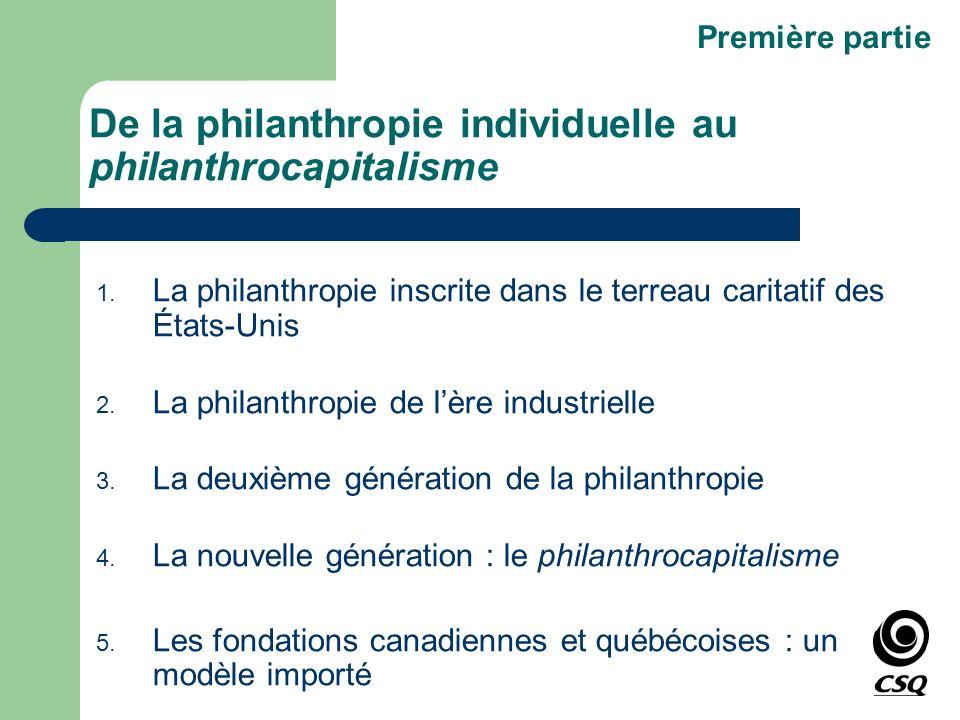 De la philanthropie individuelle au philanthrocapitalisme 1. La philanthropie inscrite dans le terreau caritatif des États-Unis 2. La philanthropie de