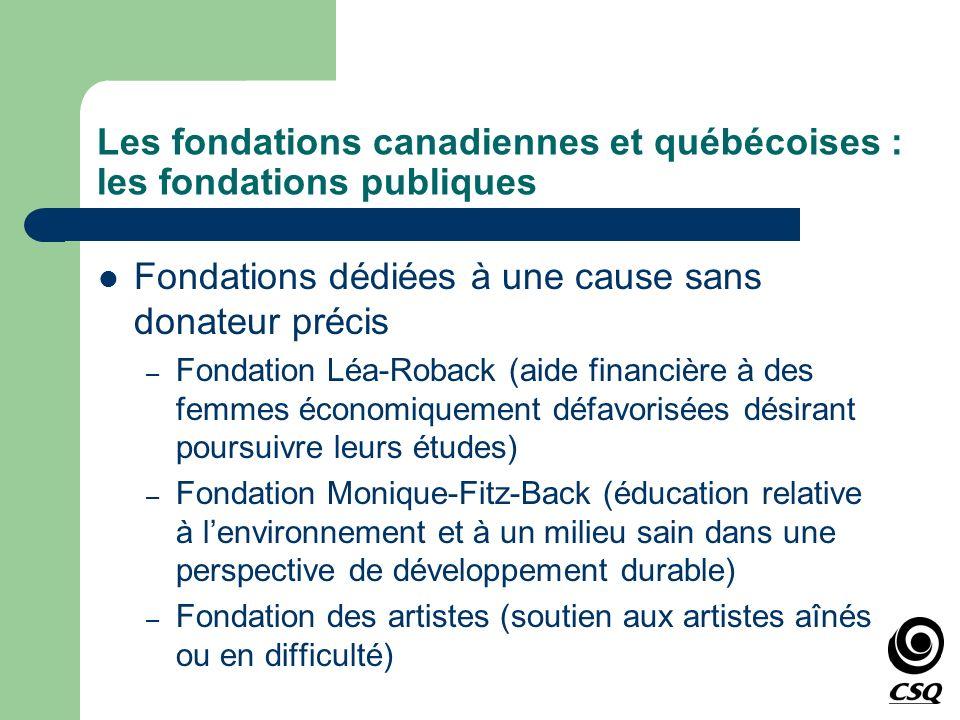 Fondations dédiées à une cause sans donateur précis – Fondation Léa-Roback (aide financière à des femmes économiquement défavorisées désirant poursuiv