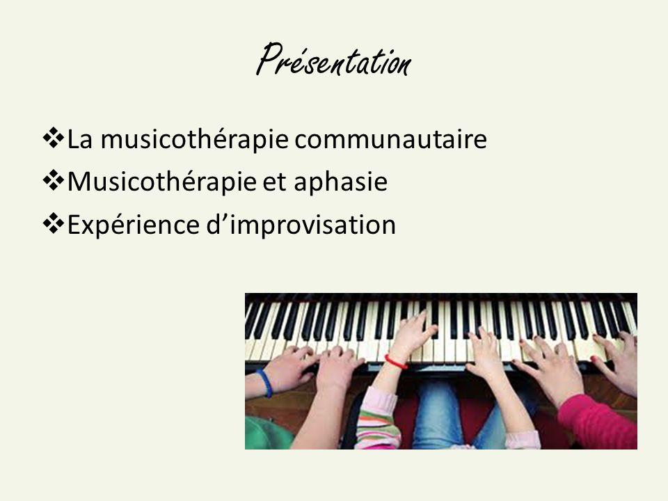 Musicothérapie La musicothérapie est l utilisation judicieuse de la musique et de ses composantes par un musicothérapeute accrédité, afin d améliorer, de maintenir, ou de rétablir la santé mentale, physique, émotionnelle et spirituelle d une personne.
