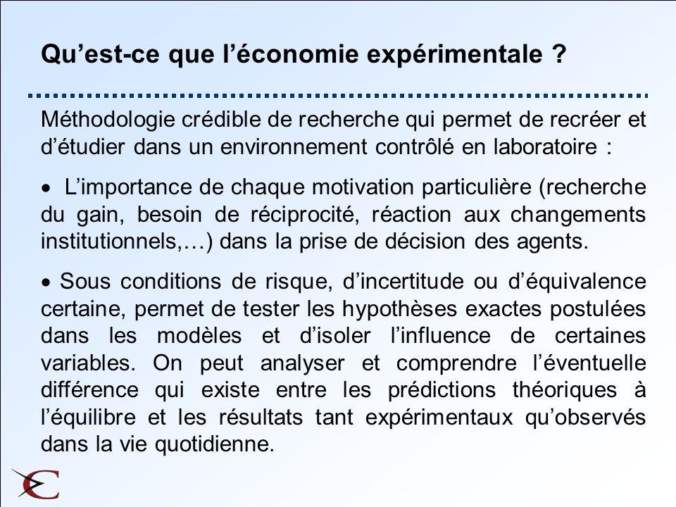 Quest-ce que léconomie expérimentale .
