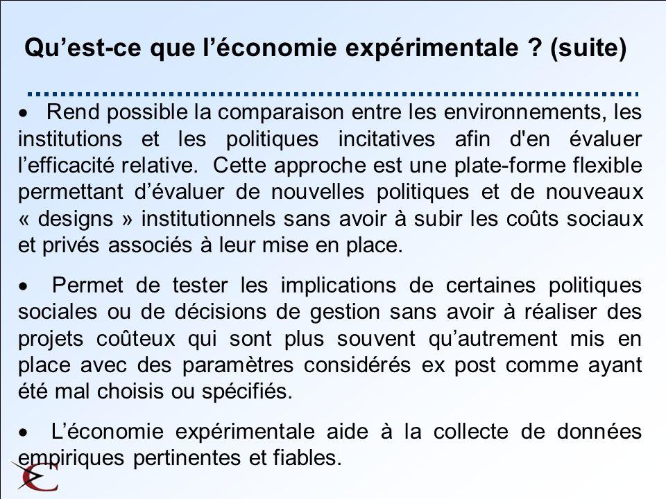 Experimental Instruments Two instruments: l Information questions (43) Socioeconomic Behavioural Attitudinal l Compensated questions (64)