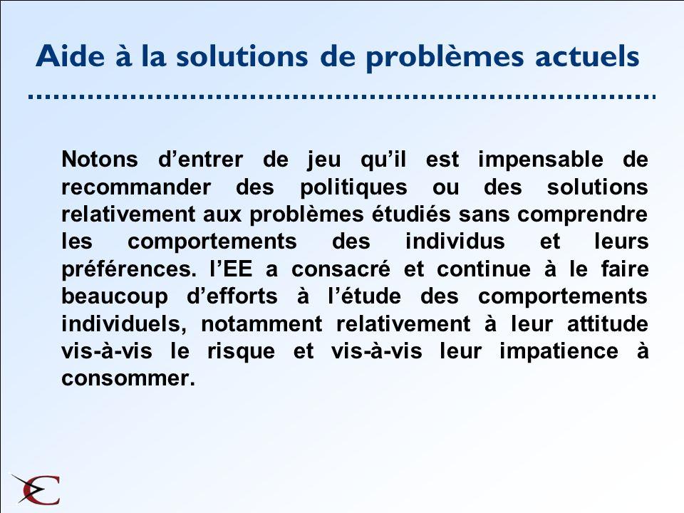 Conclusion Générale LEE aide a la compréhension des problèmes Elle souligne des pistes de solutions Elle permet dinfluer sur les décideurs.