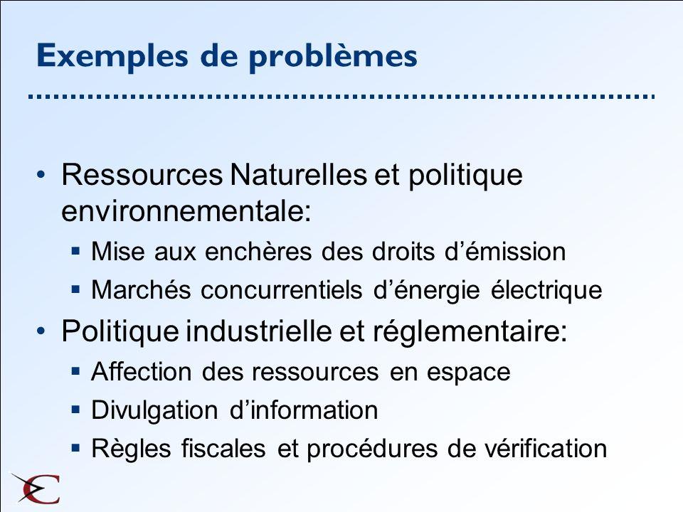 Exemples de problèmes Investissement en éducation et en santé Politiques de financement de létat Fraudes fiscales Marché du travail et participation Politiques industrielles