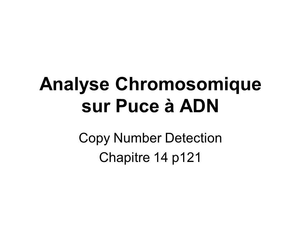 Analyse Chromosomique sur Puce à ADN Copy Number Detection Chapitre 14 p121