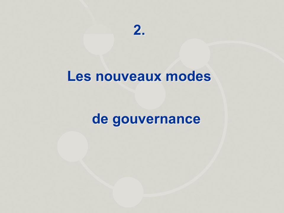 2. Les nouveaux modes de gouvernance 2. Les nouveaux modes de gouvernance
