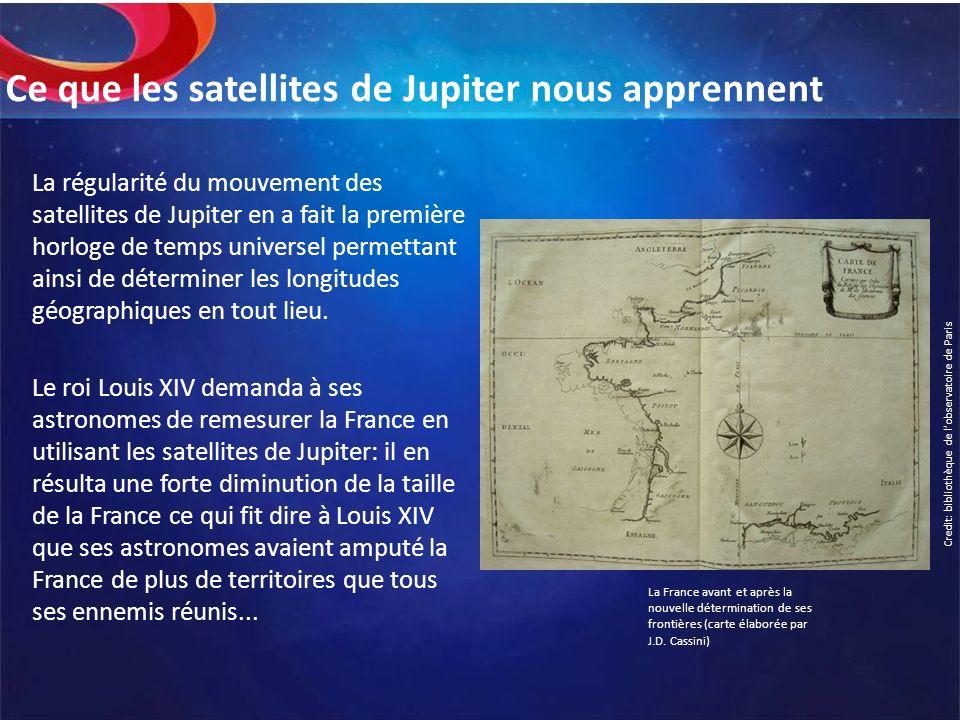 Ce que les satellites de Jupiter nous apprennent La régularité du mouvement des satellites de Jupiter en a fait la première horloge de temps universel