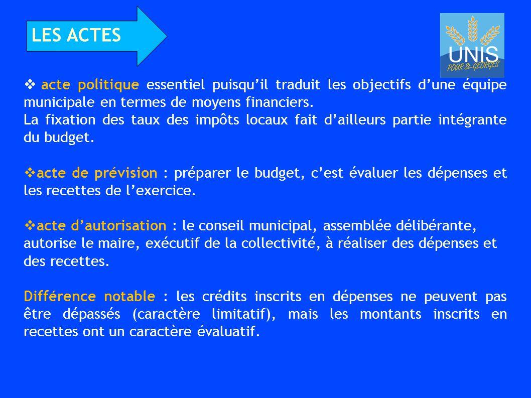  acte politique essentiel puisqu'il traduit les objectifs d'une équipe municipale en termes de moyens financiers.
