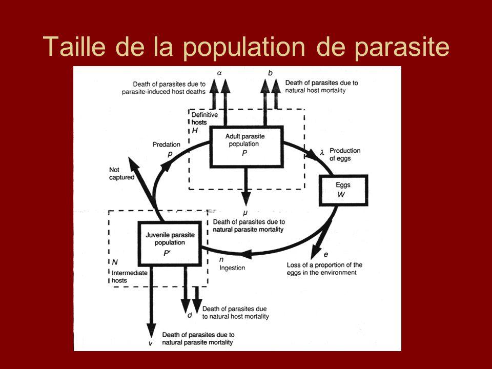 Taille de la population de parasite