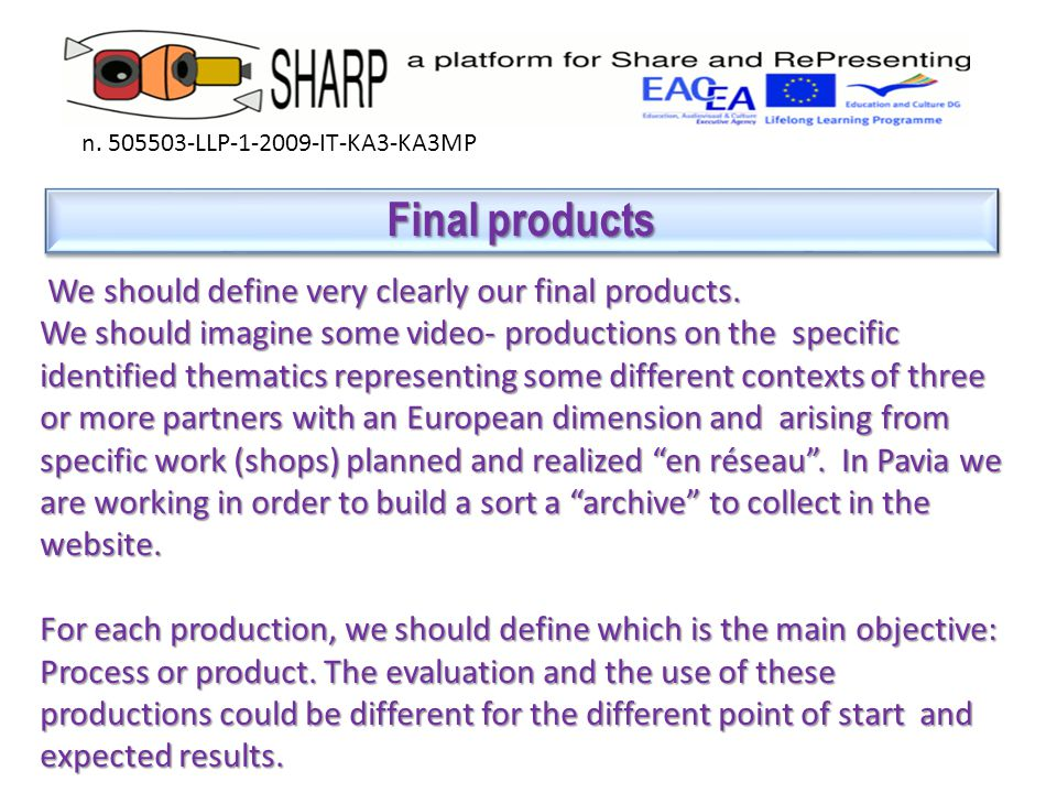 Final beneficiaries Final beneficiaries n.