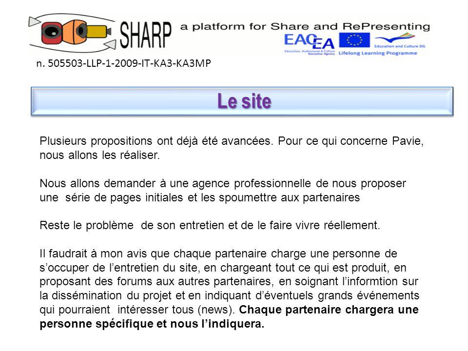 Le site Le site n.505503-LLP-1-2009-IT-KA3-KA3MP Plusieurs propositions ont déjà été avancées.