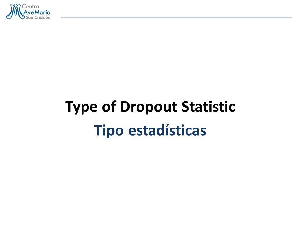 Type of Dropout Statistic Tipo estadísticas